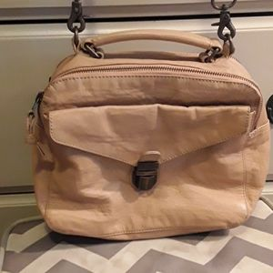 EUC beige leather 'Hibou' box bag